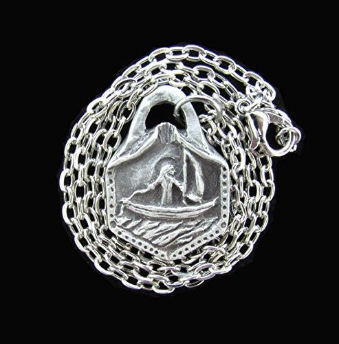 - St. Brendan, Patron of Sailors, Kayakers, Canoers, Handmade Medal on Chain
