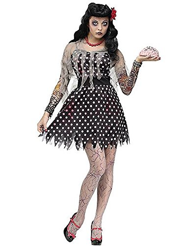Rockabilly Zombie Adult Costume (Medium/Large) (Zombie Costumes Women)
