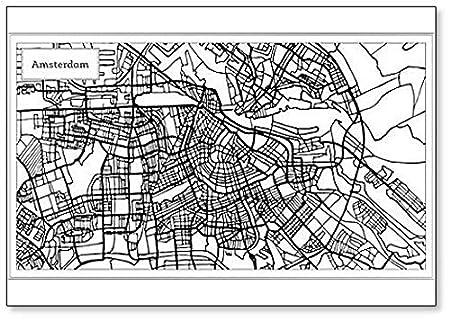 Imán para nevera, diseño de mapa de Holanda de Amsterdam: Amazon ...