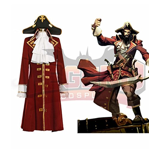 1791's lady Men's Pirate Henry Morgan Captain Costume Coat+Hat -XXL by 1791's lady (Image #2)