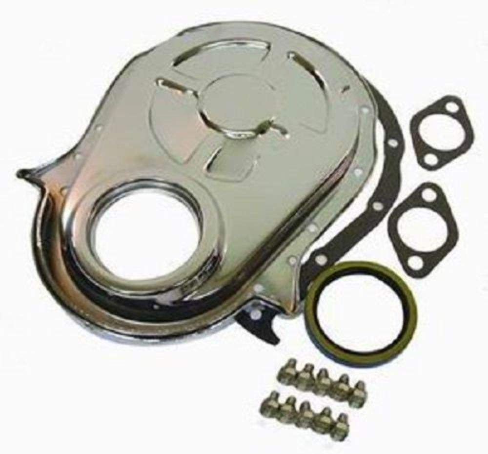 Pirate Mfg Chrome Bbc Chevy 396 454 Timing Chain Cover 350 Tab Location Kit Automotive