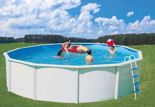 Juego de pared Pool Acero Nuovo de Luxe Ø 4, 6 x 1, 2 m ...
