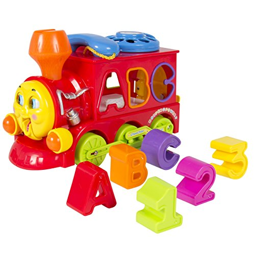 Best Choice Products Bump & Go Action Learning Train Lights & Music Block Letters Shape Sorter