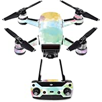 Skin for DJI Spark Mini Drone Combo - Watercolor White| MightySkins Protective, Durable, and Unique Vinyl Decal wrap cover | Easy To Apply, Remove, and Change Styles | Made in the USA