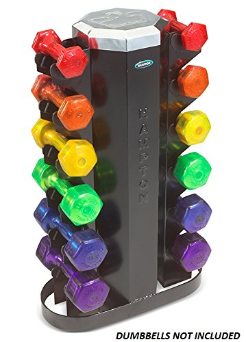 Hampton Jelly-Bell-Neoprene-Vinyl Dumbbell Rack by Ironcompany.com
