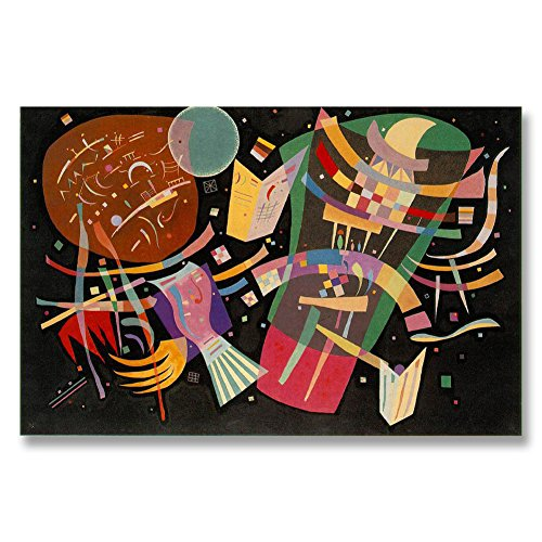 Wassily Kandinsky Composition X 1939 Original Abstract Canvas Paintings Hand Painted Reproduction Unframed Tablet - 48X32 inch (122X81 cm) for Living Room Bedroom Dining Room Wall Decor To DIY Frame by Neron Art