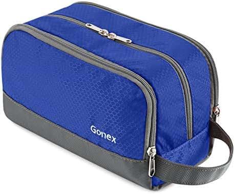 Travel Toiletry Bag Nylon, Gonex Dopp Kit Shaving Bag Toiletry Organizer Blue