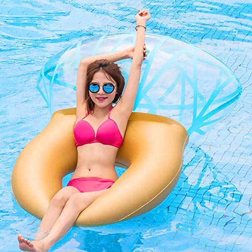 JESSICAR Inflatable Pool Float Swim Ring, Diamond Ring Pool Raft, Pool Party Supplies for Summer Outdoor Water Lounge