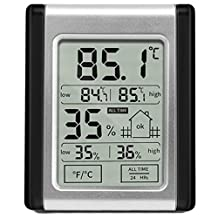 Zehui Humidity Monitor LCD Display Digital Electronic Thermometer and Humidity Monitor Vertical Placement for Baby Room Home Office