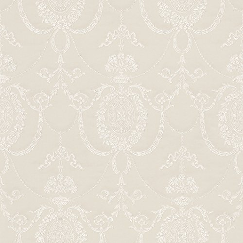 Quilted Effect (Off White Traditional Damask Quilted Effect Heavy Vinyl Wallpaper 513011)