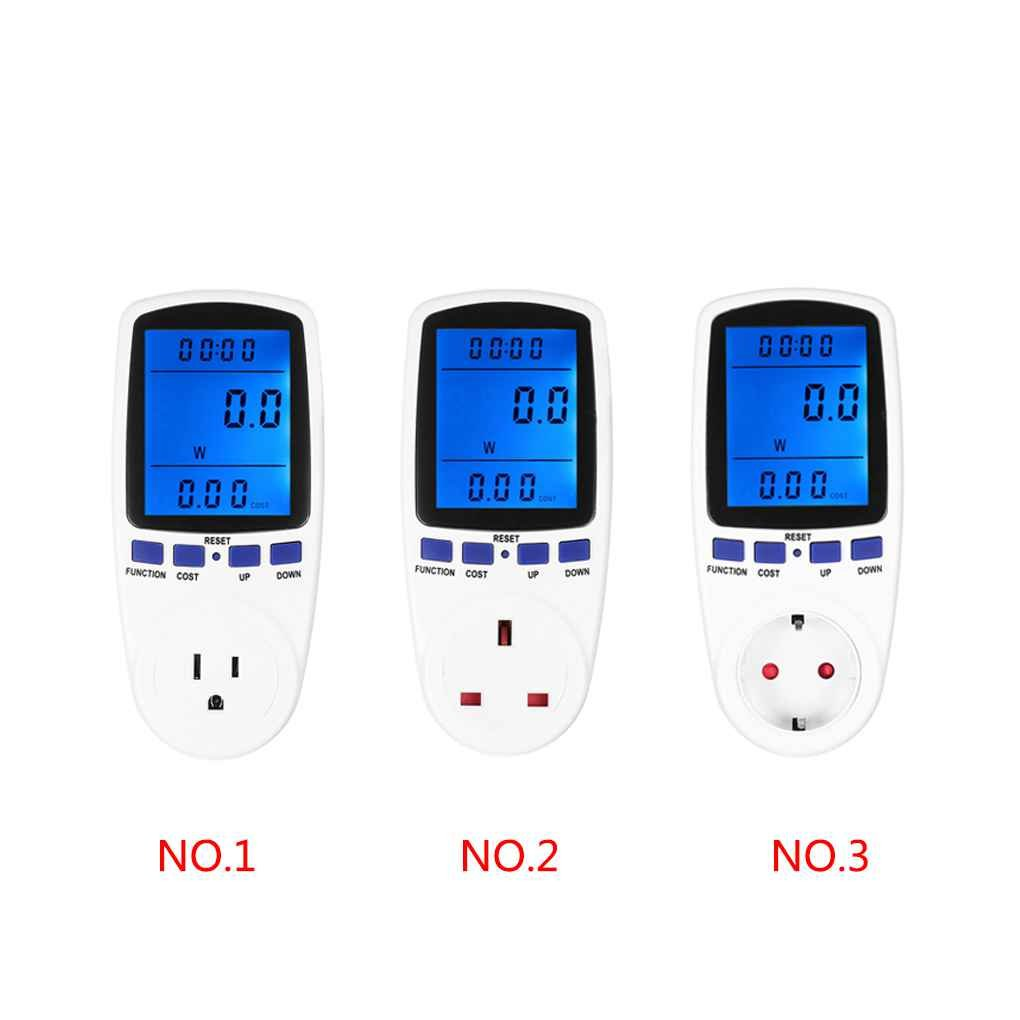 Digital Energy Meter Voltage Wattage Current Monitor Watt Checker Saving Power Electricity Socket Analyzer Electronic Switch