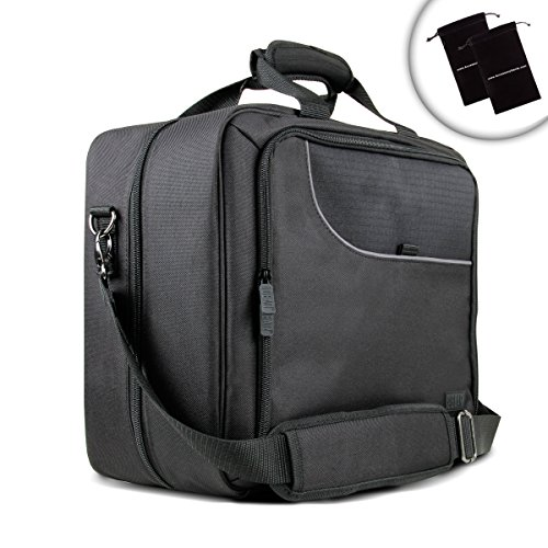 USA Gear Carrying Case Bag for DJI Mavic Pro with Shoulder Strap , Adjustable Dividers , and Accessory Pockets - Fits Drone , Controller , Charger , Power Cable , Propellers , and More by USA Gear