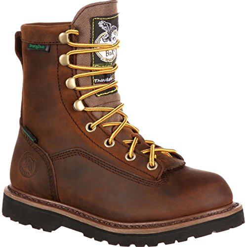 Georgia Boot Unisex G2048 Mid Calf Boot, Dark Brown, 7 M US Big Kid ()