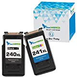 InkWorld Remanufactured Ink Cartridge Replacement for PG-240XL CL-241XL (1 Black,1 Color) High Yield for PIXMA MG3620 MG3520 MX532 MX472 MG2120 MG3222 MG3522 MG3220 MX432 MX452 MX522 MX512