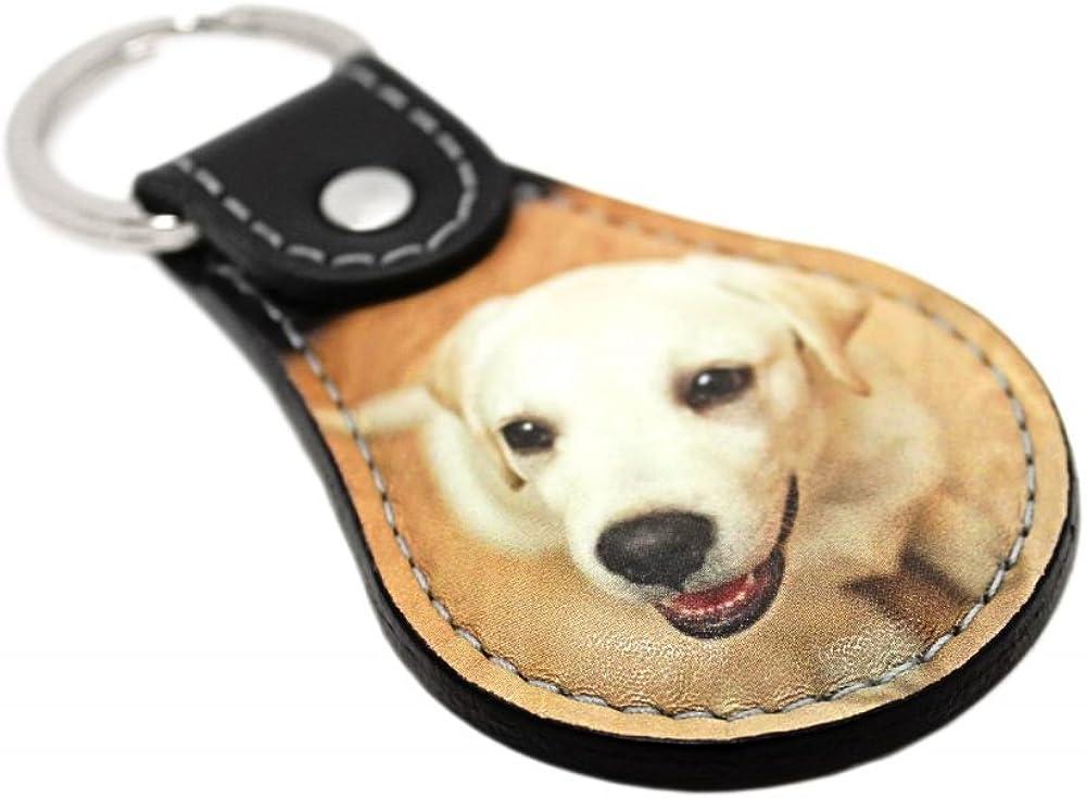 Personalized Americana Genuine Leather Keychain