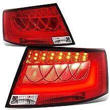 Audi C6 A6/S6 Sedan Chrome Housing Red Lens 3D LED Rear Tail Brake + Corner Signal Light