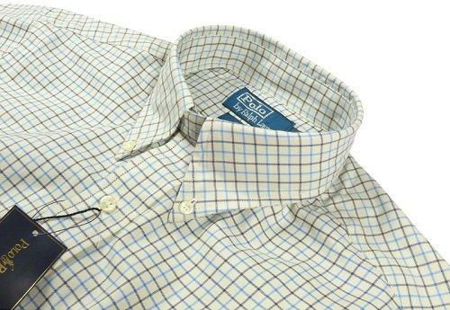 Ralph Lauren -Custom Fit- Hemd creme blau kariert