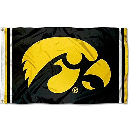 Iowa Hawkeyes Jersey Stripes Flag