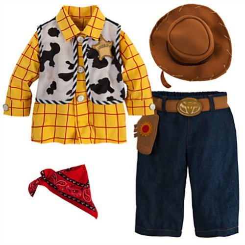 [Disney Deluxe Toy Story Woody Costume for Baby Boys Toddlers (12-18 Months)] (Woody Toy Story Costume Baby)
