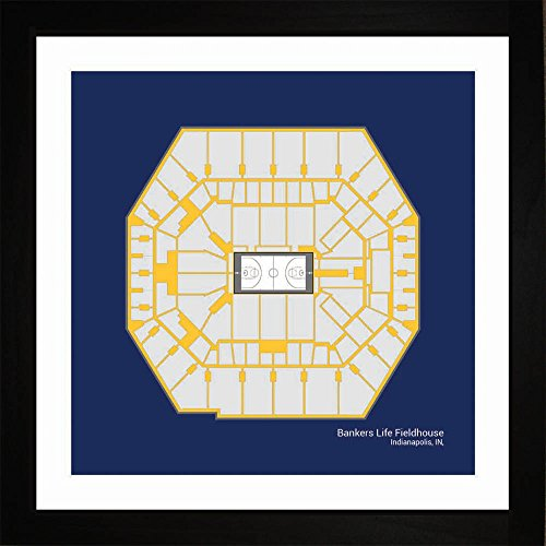(Indiana Pacers Bankers Life Fieldhouse Arena Framed Art Gift)
