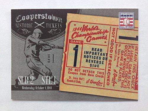 - 2013 Panini Cooperstown Historic Tickets #15 1944 World Series NM/M (Near Mint/Mint)