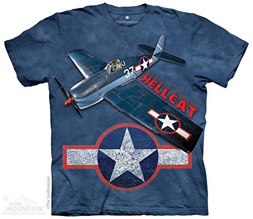 The Mountain Kids Grumman Hellcat USA T-Shirt, Small, Blue