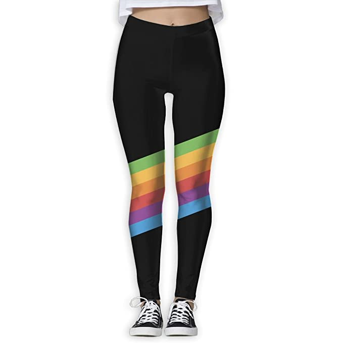72da358f0d8bab Amazon.com: JUCXSRT Yoga Pants,Women's Power Rainbow Stripes Yoga Pants  Tummy Control Workout Yoga Pants Leggings: Clothing