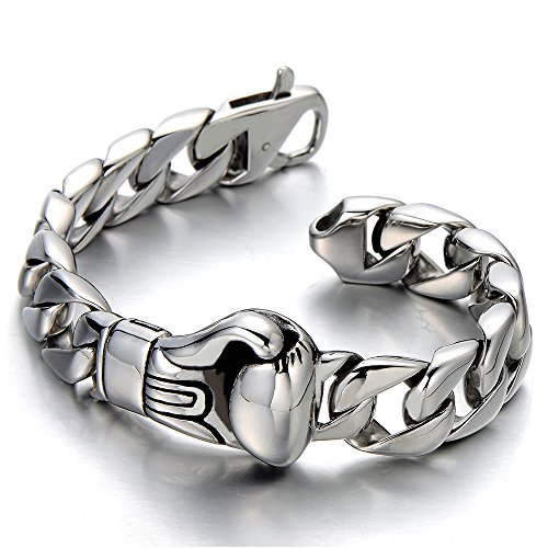 Unique Stainless Bracelet Boxing Polished