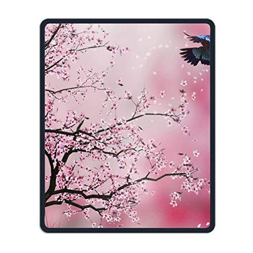 Non-Slip Rubber Mousepad,Artistic Spring Cherry Blossom Sakura Pink Bird Gaming Mouse Pad - Georgetown Cherry