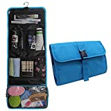 Hanging Toiletry Bag Travel Kit for Men and Women Waterproof Wash Bag Compact Makeup Organizer Bag Shaving Kit for Bathroom, Travel Accessories, Cosmetics, Shampoo, Body Wash (blue)