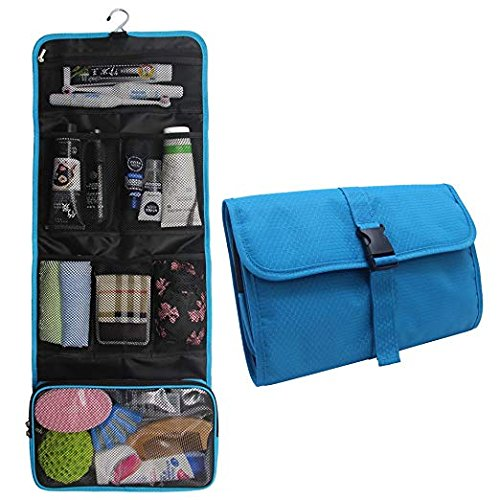 Hanging Toiletry Bag Travel Kit for Men and Women Waterproof Wash Bag Compact Makeup Organizer Bag Shaving Kit for Bathroom, Travel Accessories, Cosmetics, Shampoo, Body Wash (blue) by TANTO