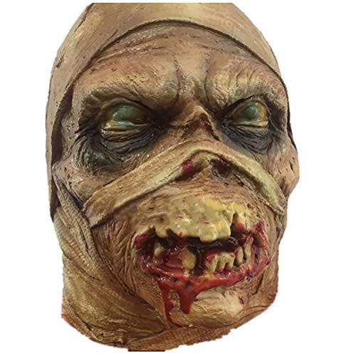 Mummy Mask Halloween Latex Horror Rubber Horror Mascaras Mummified Pinhead Demon Terror Parasite Masks -