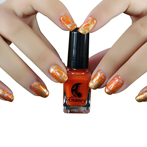 Dingji 12 Colors Cracked Nail Shatter Nail Kit Nail Polish Set Of Included Base Set (C) (Lacquer Nail Shatter)
