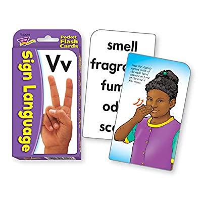 TREND Enterprises, Inc. T-23016BN Sign Language Pocket Flash Cards, 3 Sets: Industrial & Scientific