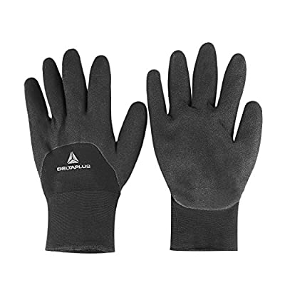 Tiptiper Winter Keep Warm Working Gloves, Ergonomic Palm Design Micro-Foam Latex Double Coated, Sold By Pair