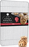 Villerve Stainless Steel Baking Rack and Cooling Rack 12'' x 17'' Chef Grade Commercial Quality - fits Half Sheet Pan, Strengthened Wire Grid Pattern