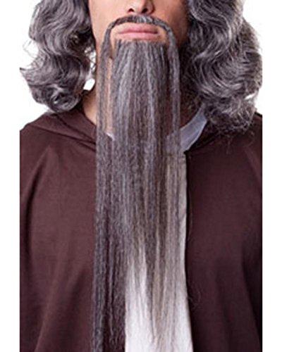 Synthetic Wig Sepia Hair (Wizard Beard Goatee Mustache Set 15