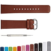 12 Colors for Quick Release Leather Watch Band, Fullmosa Uli Genuine Leather Watch Strap 18mm, 20mm, 22mm or 24mm (choose the proper size)