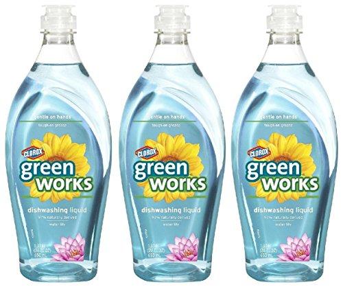 (Green Works Dishwashing Liquid - 22 oz - Water Lily - 3 pk)