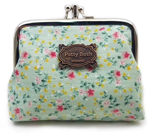 Patty Both Cute Classic Floral Exquisite Buckle Coin Purse