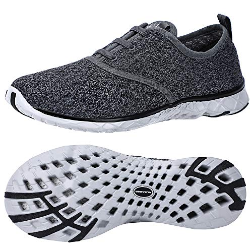 Best ALEADER Men's Stylish Quick Drying Water Shoes Gray 10 D(M) US