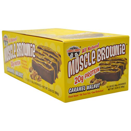 Muscle Brownie de Lenny & Larry, caramel de noix, 2,82 onces (Pack de 12)