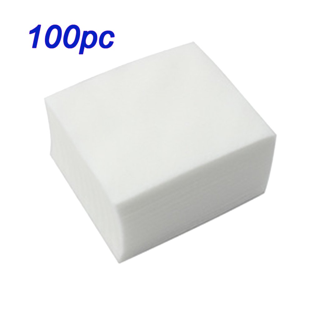 100PCS/PACK X 100% Cotton Sanitary Soft Nail Polish Gel Remover Pads Nail Tools for Polish Remover Fashiongallery