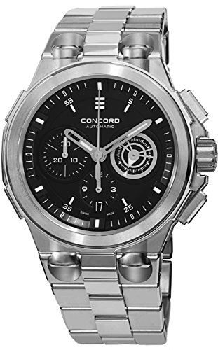 Concord C2 Automatic Chronogrph Men's Stainless Steel Black Dial Swiss Made Watch 0320178