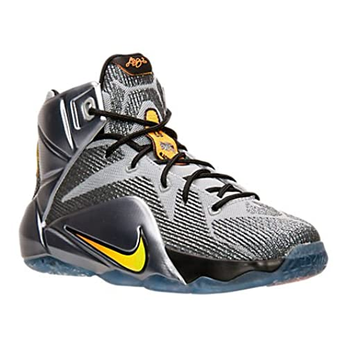 the latest 36fb2 47517 ... australia nike lebron xii gs big kids basketball shoe 6 flight wolf  grey bright citrus black