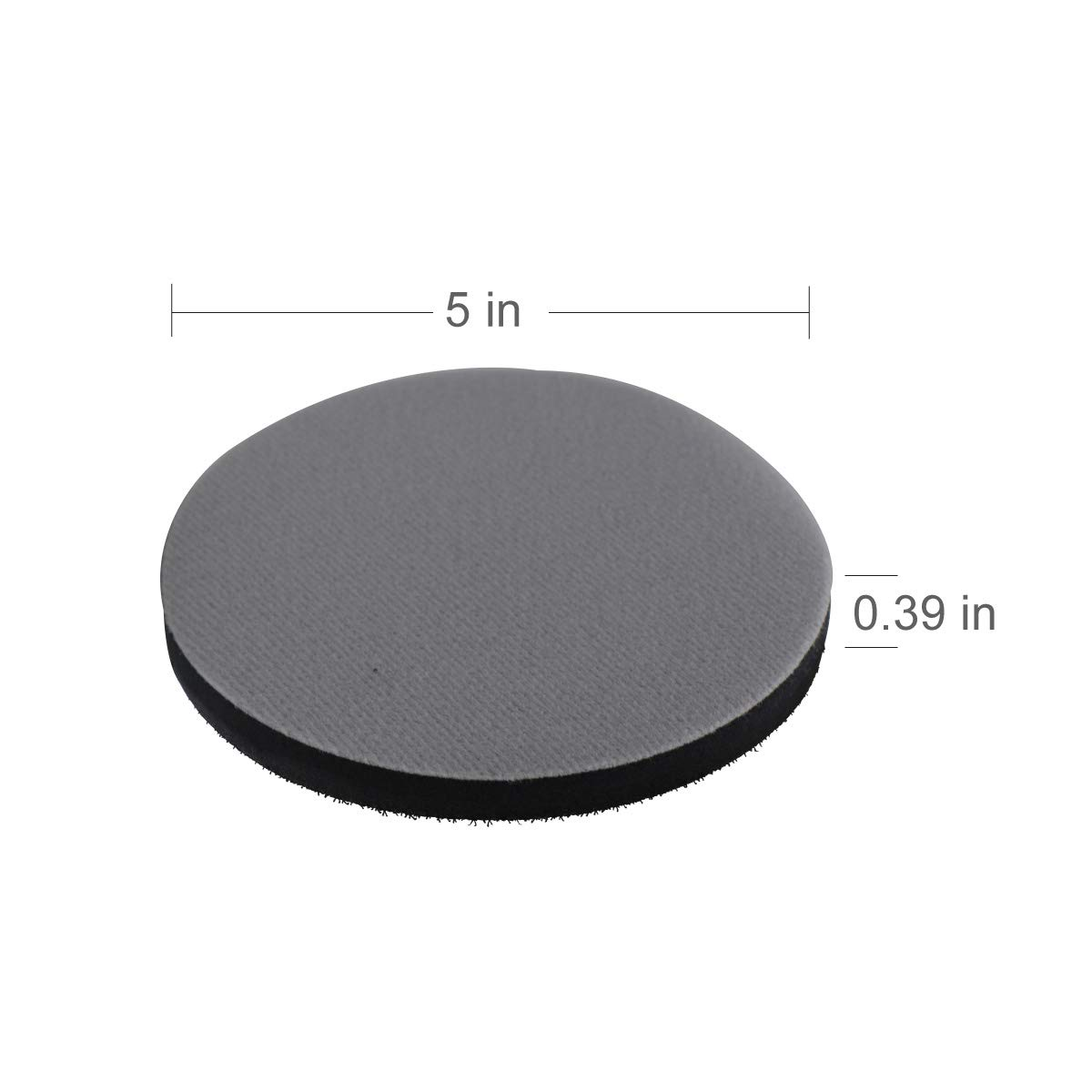 6 Inch Interface Pad 6 Holes Soft Sponge Sanding Disc Backing Pads Hook and Loop Attachment Power Tools Accessories 150mm by VIBRATITE