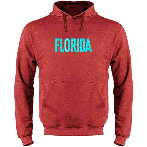 Florida State Retro Vintage Travel Heather Red S Mens Fleece Hoodie ()
