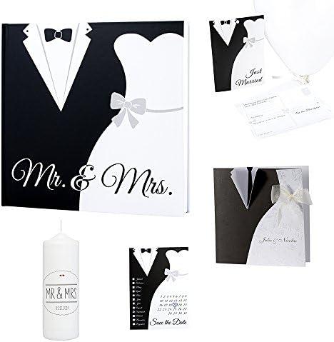 Livre dor de mariage avec inscription /«/Mr /& Mrs//» en noir et blanc