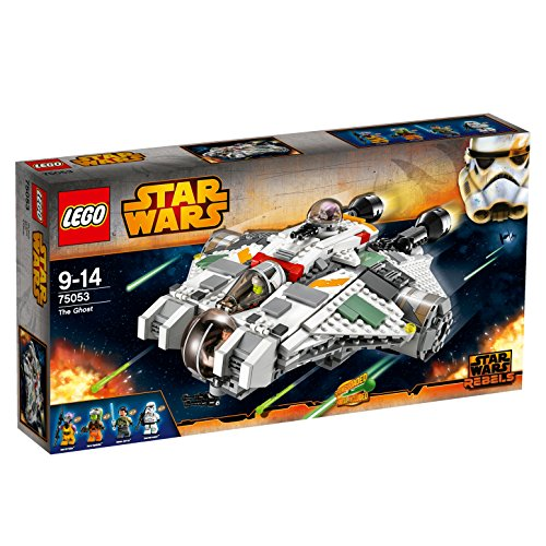 LEGO Star WarsTM Rebels The Ghost Starfighter w/ 4 Minifigures | 75053 (Star Wars Rebels Ghost Ship Toy)