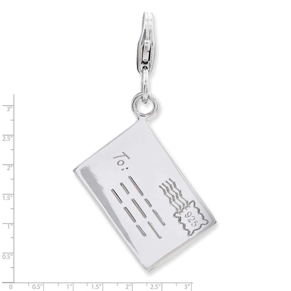 Goldia Sterling Silver 3-D Letter w//Lobster Claw Clasp Charm